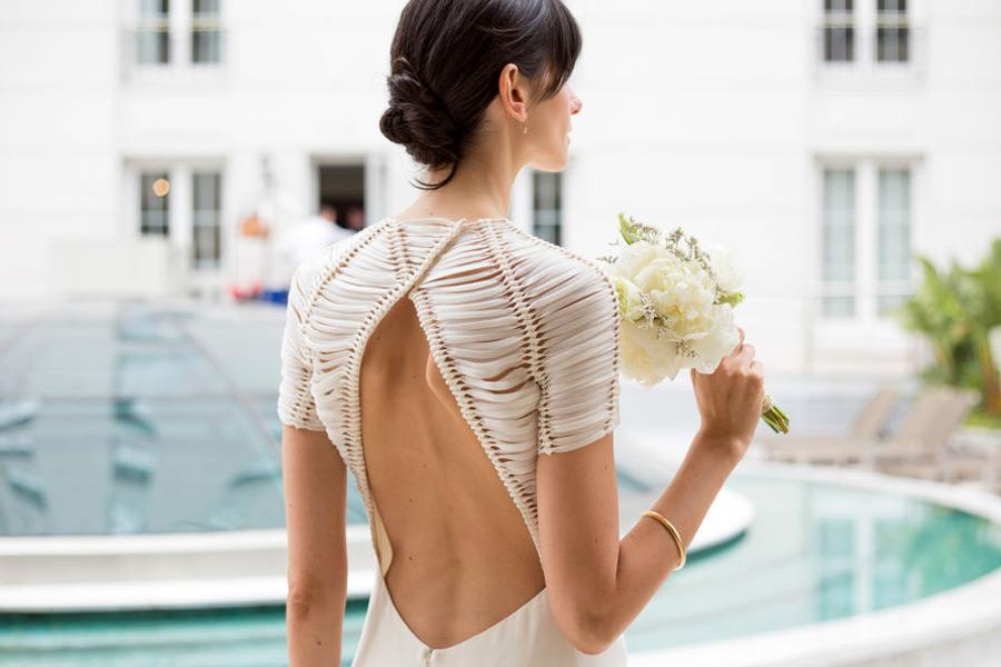 Peinado Ceci Mendez en su boda