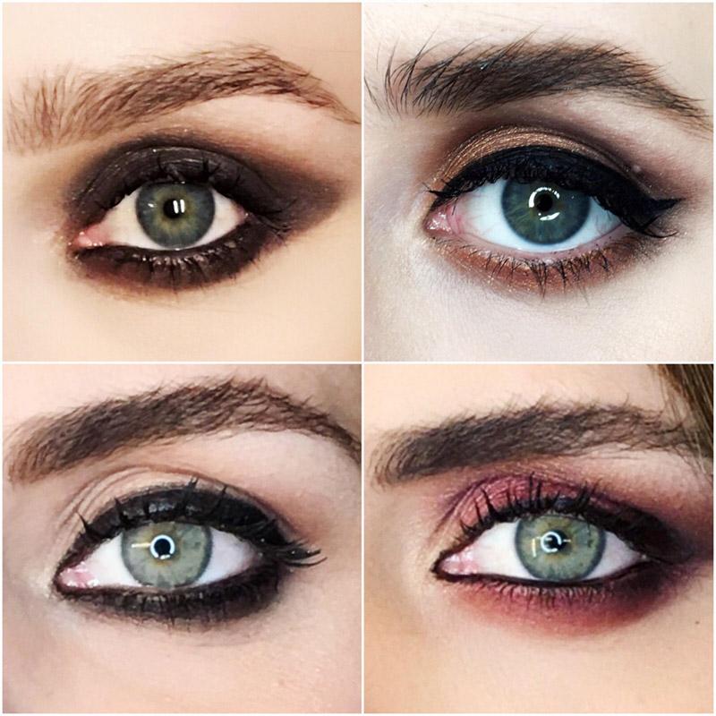 a la hora de crear un maquillaje de ojos impactante hay que tener en cuenta dos cosas el color y la forma hundidos pequeos saltones montados