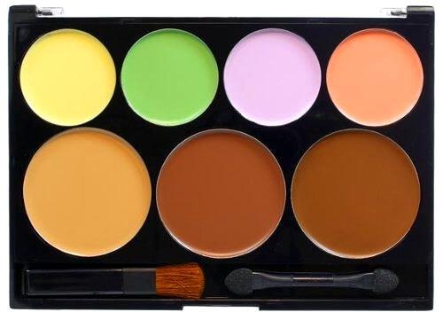 Paleta de correctores de varios colores