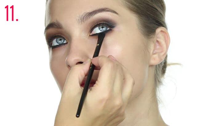 Paso 11 make-up Oriana Sabatini