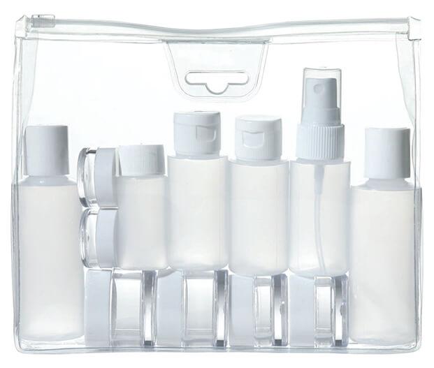 Como llevar productos para el cuidado de la piel
