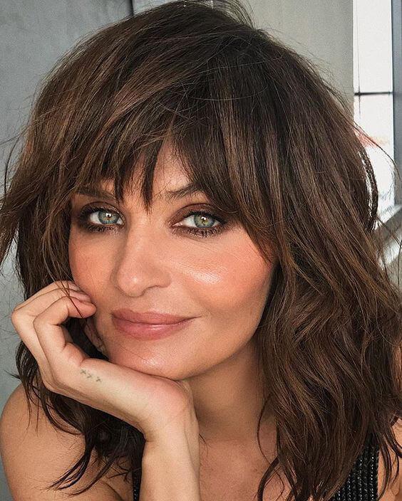 Midi con flequillo - Tendencias cabello primavera verano 2020