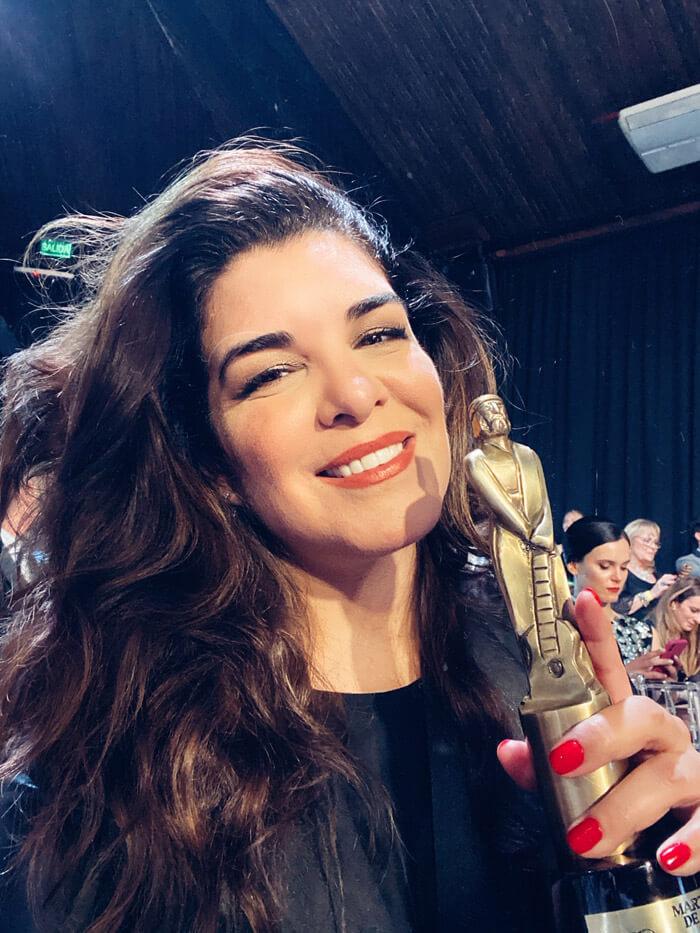 Bettina Frumboli - Martin Fierro a la mejor maquilladora
