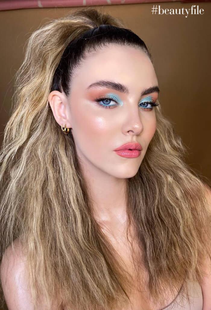 tendencia de maquillaje looks ultra coloridos - smokey pastel